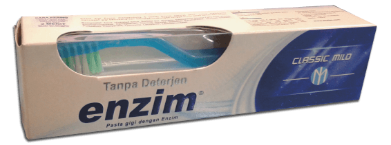 Enzim Classic Mild with Toothbrush Packaging
